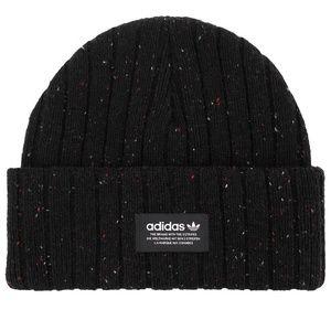 *ADIDAS* Black x Multicolor Ribbed Beanie Hat
